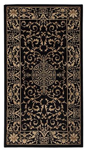 Luxor Living Kendra Teppich, Polypropylen, Creme/schwarz, 160 x 235 cm