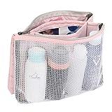 Gonex Small Mesh Toiletry Bag Travel Makeup Pouch Mini Cosmetic Bag for Women Men