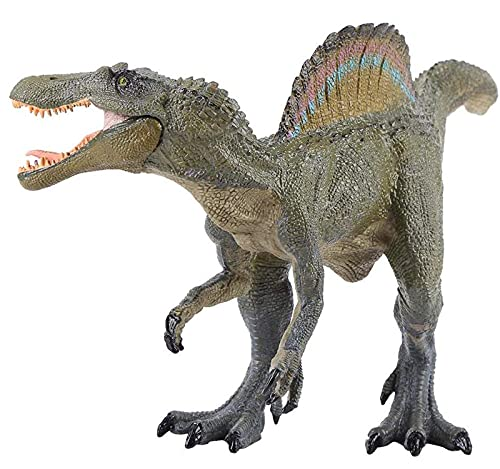 Gemini&Genius Jurassic World Spinosaurus with Movable Jaw Jurassic Park Dinosaurs Action Figure Early Science Education and Collection Dino World Model Toy for 3-12 Years Old Kids