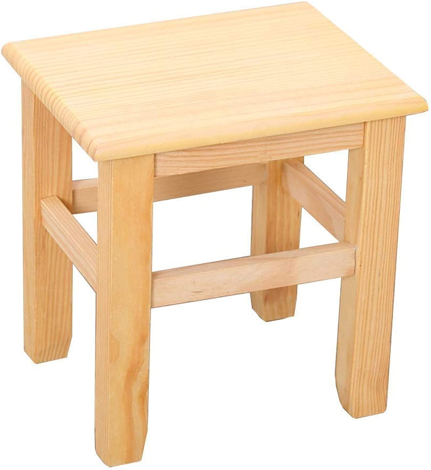 WSJTT Home Stool,Solid Wood Small Stool, Small Square Stool,Small Wooden Stool,shoes Stool,Coffee Table Stool,Small Bench for Home, Solid Wood Short Coffee Table
