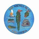Imán 3D de San Andrés Islas Colombia para nevera de viaje, recuerdo de viaje, decoración del hogar y la cocina, colección de pegatinas magnéticas para nevera de Colombia