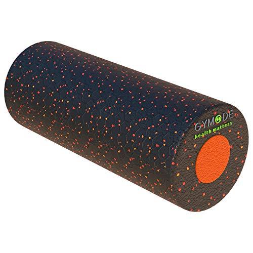 Gymode Faszienrollenset 2 in 1 Massagerollen mit herausnehmbarem Kern für Rücken, Nacken und Beine; mittelharte Trainingsrolle (schwarz/orange)