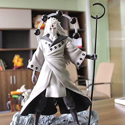 MIRECLE Anime Naruto Shippuden Uchiha Madara Estatua Decoración Modelo Regalo 26cm