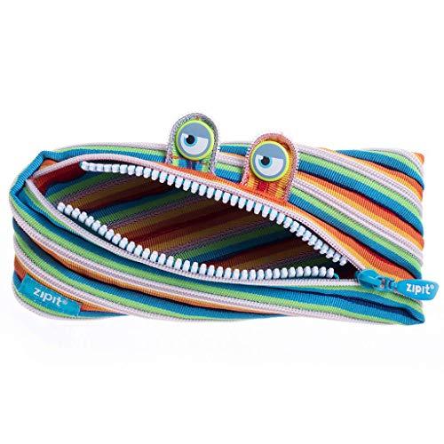 ZIPIT Federmäppchen Monster 3-Ring Mäppchen Bunte Streifen