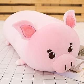 sofipal Pig Plush Hugging Pillow,Soft Piggy Stuffed Animal Piglet Cylindrical Roll Neck Pillow Body Pillow 23.6