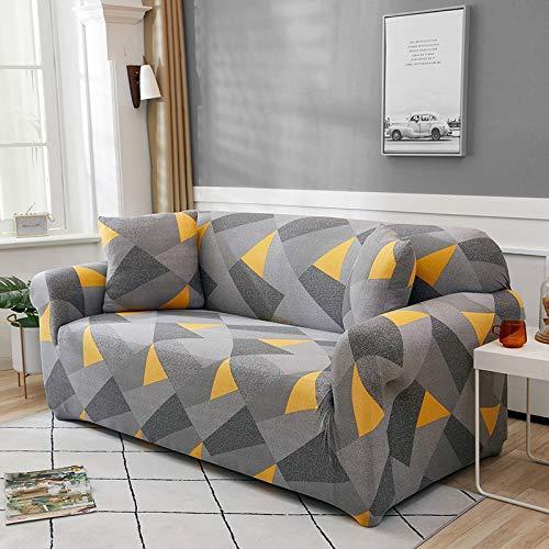 WXQY Sala de Estar Cubierta de sofá elástica geométrica sección Moderna Cubierta de sofá de Esquina Cubierta de sofá Cubierta de protección de Silla A3 3 plazas