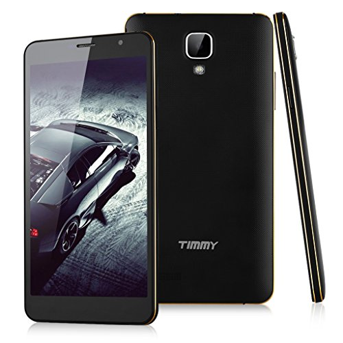 2015 Newest TIMMY M7 5.5'' Android 4.4 Kitkat Octa Core Unlocked Smartphone 3G - IPS HotKnot MTK6592 1.3MHz 1GB RAM 8GB ROM Dual SIM Mobile Tablet PC OTG Smart Gestures SIM-Free Cellphone Phablet (Black+Golden), [Importado de UK]