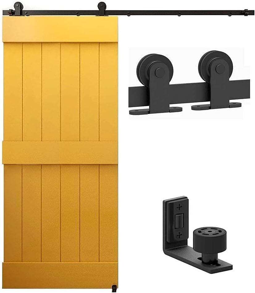 6.6FT Sliding Barn New arrival Door Hardware Kit Set High material Rail Black Rustic Track