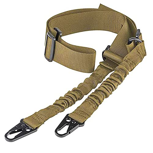 CVLIFE Two Points Rifle Sling with Length Adjuster Traditional Sling with Metal Hook for Outdoors Sand