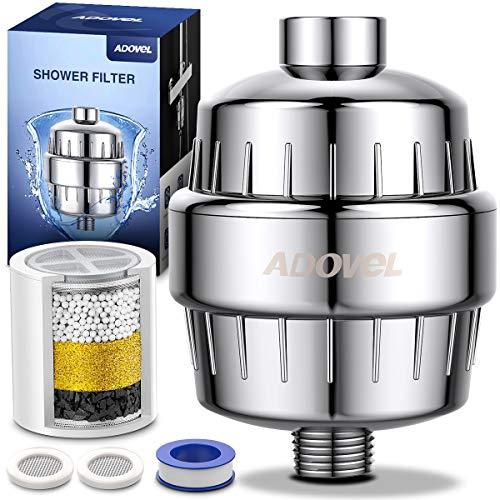 ADOVEL Hochleistungs Universal Duschfilter Shower Filter, Wasserfilter Dusche mit neuer hocheffizienter Calciumsulfit-Dechlorierungssäule, entfernen Chlor, Schwermetalle