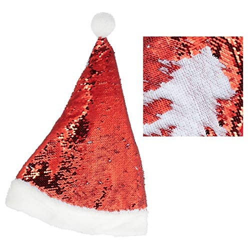 Preis am Stiel Christmas Hat 'Sequins' Red/White | Chistmas | Decoration | Xmas | Christmas Tree | Santa Claus | Christmas Atmosphere | Contemplation | Delight | Stag Party | JGA | Gift Idea