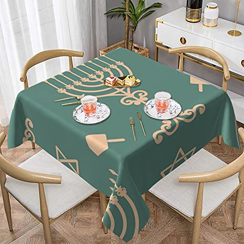Tablecloth Hanukkah Square Table Cloth Home Decoration Tablecloths 60'X60' Indoor Outdoor Spillproof Party Picnic Table Cover