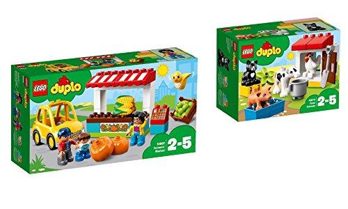 LEGO DUPLO Town 2er Set: 10867 Bauernmarkt + 10870 Tiere auf dem Bauernhof