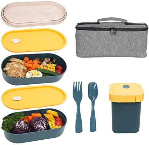 KQGO Bento Box Adult Lunch Box All In One Bento Lunch Boxes for kids Bentgo Boxes with Sauce product image