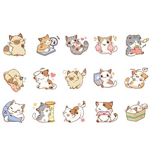 Mini Office Depot 45pcs japanische katze aufkleber tagebuch dekoration diy scrapbooking aufkleber