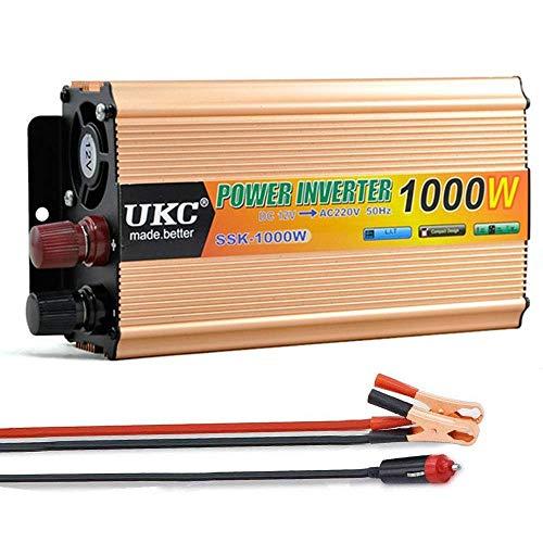 ZHCJH 500W/1000W/2000W Peak Power Inverter, Power Converter DC 12v/24v/48v to AC 220v/230v Car Inverter with Universal Socket, USB Port