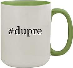 #dupre - 15oz Hashtag Ceramic Inner & Handle Colored Coffee Mug, Light Green