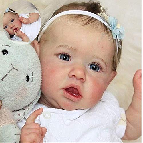 Reborn bebé 23 Pulgadas 58 cm Parece Real la Vida de los bebés realistas Pretty Girl Vinilo recién Nacidos de Silicona Suave de la muñeca de Regalo de cumpleaños Juguetes para la Edad 3+