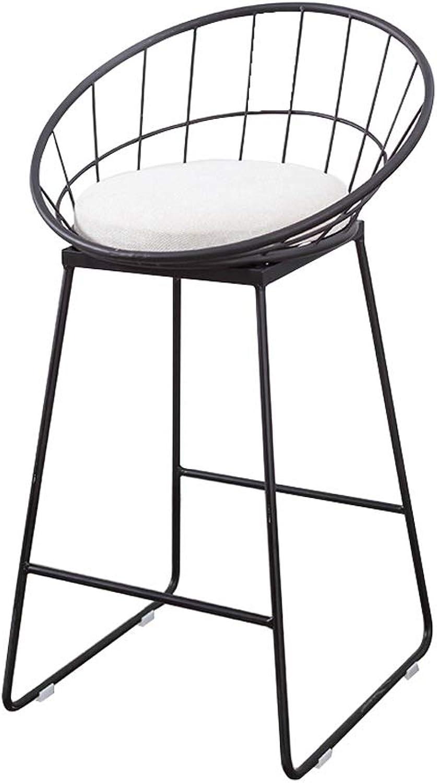 LYXPUZI Barhocker Modern Furniture Chair - Bar Chair Metal Frame Dressing Table Girl Room Armchair Beauty Salon Chair Frühstücksschemel (color   Black, Size   45cm)