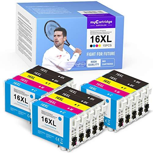 myCartridge SUPCOLOR Cartuchos de tinta compatibles con Epson 16XL 16 XL para Epson Workforce WF2630 WF2760 WF2540 WF2660 WF2750 WF2650 WF2510 WF2520 WF2530 WF2010