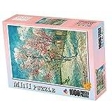 storefront 1000 Piezas De Mini Rompecabezas Blooming Peach Blossom Puzzle Juego De Descompresión para Adultos Regalo Creativo De Vacaciones