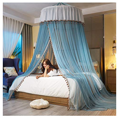 LXLTL Mosquito Nets,Doppelschichtgarn Kuppel Hängende Art Abgehängte Decke Runden Dokumentieren Einfache Installation Einzeltür Wirksam gegen Mückenstiche,B