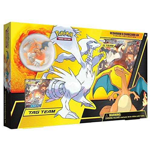 Pokemon Karten Sun&Mon Figure Collection Reshiram & Charizard-GX / Spielkarten EN Englisch Trading Card Game