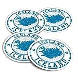 Pegatinas de vinilo (juego de 2) 10 cm, diseño de mapas de Islandia Islandia, pegatinas divertidas para portátiles, tabletas, equipaje, reserva de chatarra, neveras #4714