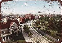 メタルティンサインインチ、1904サークルブルックリンニューヨークメタルポスタープラーク警告サイン鉄絵画アート装飾バーカフェガーデン寝室オフィスホテル