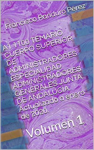 A1 1100 TEMARIO CUERPO SUPERIOR DE ADMINISTRADORES ESPECIALI