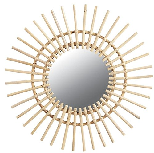 Espejo sol Rattan Ø 55 cm