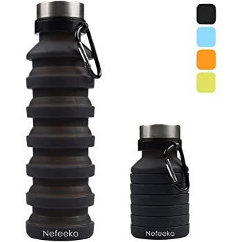 HIKING 2 SUN AND SKY Collapsible Water Bottle BIKING RUNNING Outdoor Camping