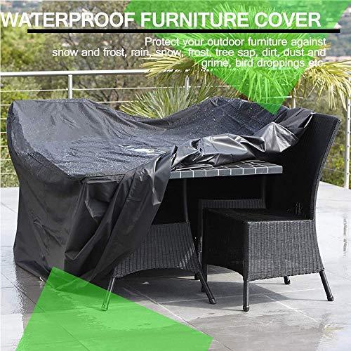 E.Enjoy Funda Protectora Muebles Jardín Cubierta Impermeable, a Prueba de Viento, a Prueba de Polvo, Snowproof y Anti-UV Plaza Cubiertas del Patio con el Lazo de Patio al Aire Libre Mesa y sillas