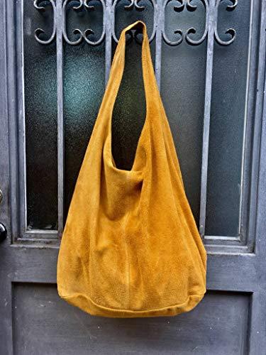 Bolso amarillo mostaza de ante