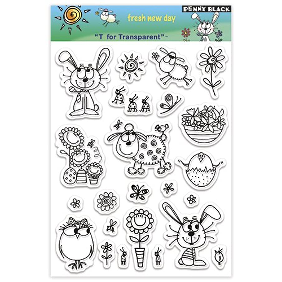 Penny Black PB30010 Clear Stamp Set, Fresh New Day