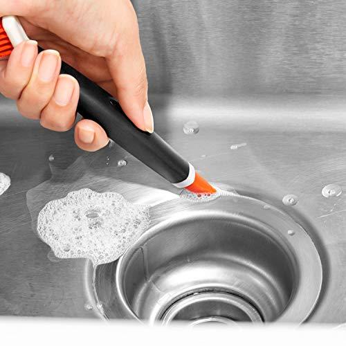 OXO Good Grips Limpieza Profunda del Sistema de Cepillo - Cepillos para Limpiar en Profundidad