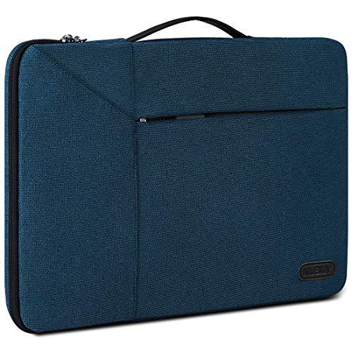 Borsa Porta PC 14 Pollici Custodia PC Impermeabile Antiurto Borsa per Laptop Notebook Ultrabook Portatile Ventiquattrore per MacBook Air 13 ,MacBook Pro 15 Pollici 2019 2018 2017 2016, Blu