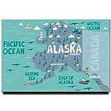 Alaska Karte Kühlschrank Magnet Anker Poster Juneau Reise