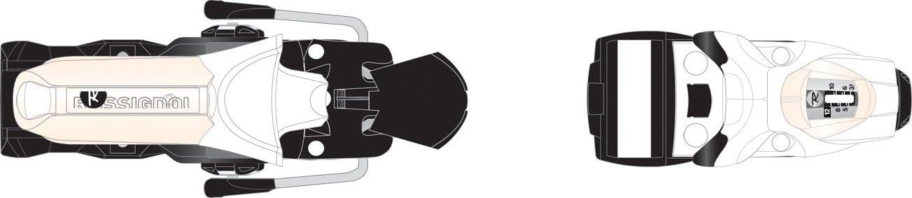 Rossignol Direct sale of manufacturer SAS2 120 Wide Brake Complete Free Shipping Bindings Ski