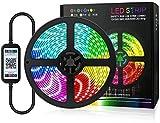 JSY Tira de luces LED USB Smart Bluetooth App Control impermeable tira de luz para fondo de TV, decoración de Navidad en el hogar, fiesta, tiras LED (color: 5 m/150 led)
