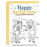 Holijolly Tarjeta De Jubilación Con Sobre - Tarjeta De Despedida De Empleado, Tarjeta De Despedida De Compañero De Trabajo - 15 X 20 Cm