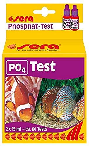 Sera Prueba de fosfato 04930 (P04), Prueba de Agua para Aproximadamente 60 mediciones, Mide de Forma fiable y precisa el Contenido de fosfatos, para Agua Dulce y de mar, en el Acuario o Estanque.