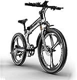 Bicicletas eléctricas para adultos Bicicleta eléctrica, bicicleta de montaña plegable eléctrica con motor de 48V400W, batería de litio de 12AH, resistencia a 90 km, vehículos todo terreno todoterren