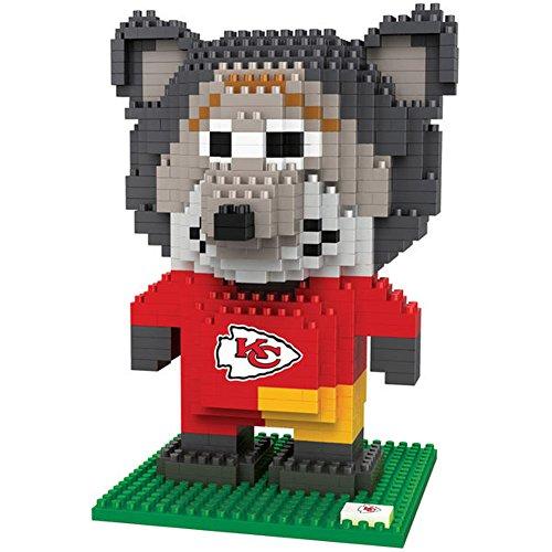 NFL Kansas City Chiefs BRXLZ 3D Blocks Set - Mascot, Team Color, One Size