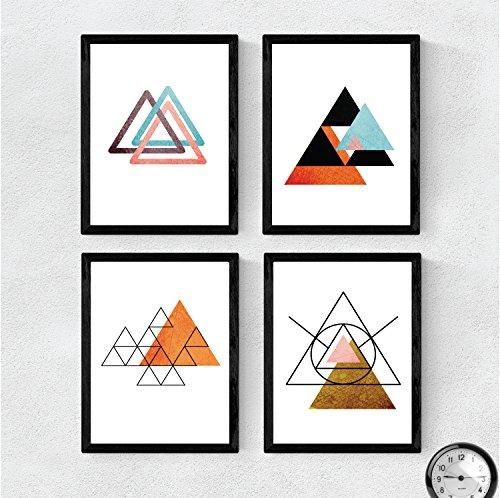 Nacnic Set de 4 láminas para enmarcar Sahara Y Egipto. Posters Estilo nórdico...
