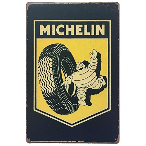 MARQUISE & LOREAN | Placas Decorativas Pared Michellin Decoración Carteles Vintage Metálicos MIRA (20 x 30 cm)