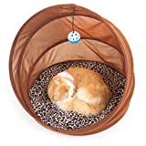 Pomety Foldable <span class='highlight'><span class='highlight'><span class='highlight'>cat</span></span></span> <span class='highlight'>litter</span> multifunctional pet tunnel <span class='highlight'><span class='highlight'><span class='highlight'>cat</span></span></span> <span class='highlight'>litter</span> <span class='highlight'><span class='highlight'><span class='highlight'>cat</span></span></span> channel pet <span class='highlight'>litter</span> <span class='highlight'><span class='highlight'><span class='highlight'>cat</span></span></span> toy (Color : Brown)