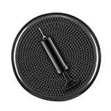 YOGU Inflated Stability Wobble Cushion, Including Free Pump/Exercise Fitness Core Balance Disc (Black)