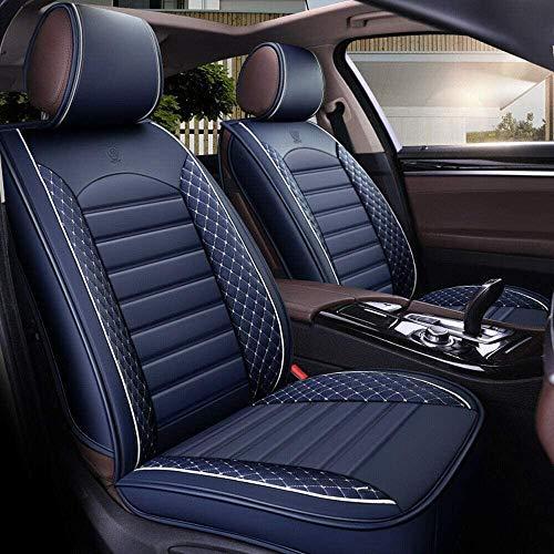 YSHUAI Fundas de asiento de coche de 5 plazas, juego completo universal compatible con airbags delan