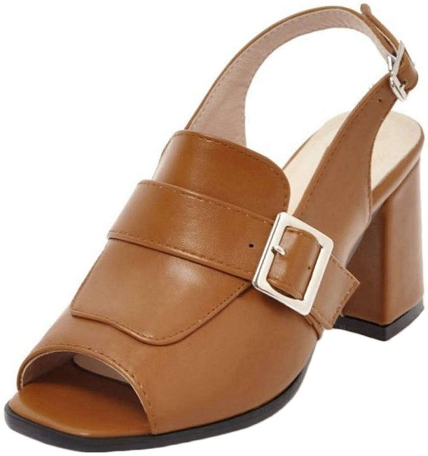 Smilice Casual Sandals with Chunky and Open Toe Fashion shoes with Plus Size Available